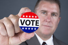 Vote pin Royalty Free Stock Photography
