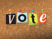 VOTE Pinned Paper Concept Illustration Royalty Free Stock Photo