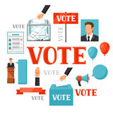 Vote political elections concept. Illustration for campaign leaflets, web sites and flayers.  Stock Photo