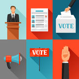 Vote political elections concept. Illustration for campaign leaflets, web sites and flayers.  Stock Photos