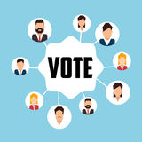 Vote and politician campaign Royalty Free Stock Image