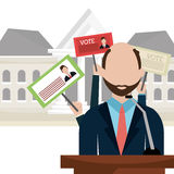 Vote and politician campaign Royalty Free Stock Photo