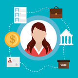 Vote and politician campaign Stock Photography