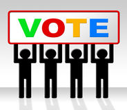 Vote Poll Represents Decide Elect And Choosing. Vote Poll Meaning Evaluation Choosing And Choice Royalty Free Stock Image