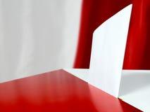 Vote polonais d'élection Photo stock
