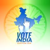 Vote pour le fond d'élection de l'Inde illustration stock