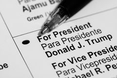 Vote présidentiel Photo stock