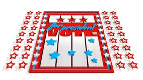 Vote for president 3D text on backdrop from usa flag elements Stock Image