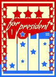 Vote for president text on backdrop from usa flag elements Royalty Free Stock Photos
