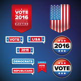 Vote and presidential election set. Vector Royalty Free Stock Photo