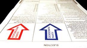 Vote primaire présidentiel Images libres de droits