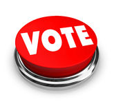 Vote - Red Button Royalty Free Stock Images