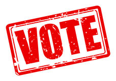 Vote red stamp text Stock Image