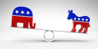 Vote republican or democrat Stock Images