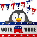 Vote for Republican with Flag Royalty Free Stock Photography