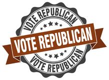 Vote republican seal Royalty Free Stock Photography