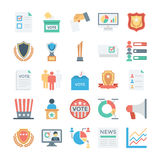 Vote and Rewards Colored Vector Icons 3 Royalty Free Stock Image