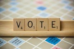 Vote Scrabble Tiles royalty free stock photos