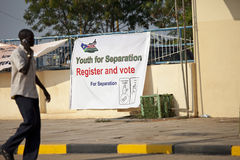 Vote for separation, southern sudan Royalty Free Stock Photo