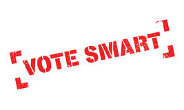 Vote Smart rubber stamp Stock Images