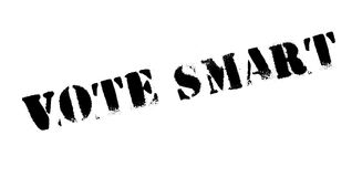 Vote Smart rubber stamp Royalty Free Stock Photography