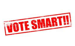 Vote smart. Rubber stamps with text vote smart inside,  illustration Royalty Free Stock Photo