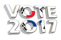Vote 2017 in South Korea, presidential election concept. 3D rend Royalty Free Stock Images