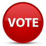 Vote special red round button Stock Photo