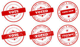Vote Stamp. S Illustration Isolated On White Stock Images