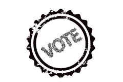 Vote stamp Royalty Free Stock Photography