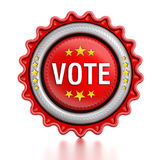Vote stamp Royalty Free Stock Photo