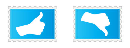 Vote stamp yes and no Royalty Free Stock Image