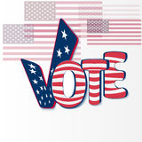 Vote with stars and stripes Royalty Free Stock Photography