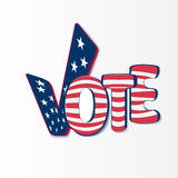 Vote with stars and stripes Stock Images