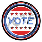 Vote sticker Royalty Free Stock Photo