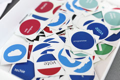 Vote Stickers for Web Design Team Members Colleagues Stock Photography