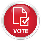 Vote (survey icon) premium red round button Royalty Free Stock Images