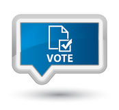 Vote (survey icon) prime blue banner button Stock Image