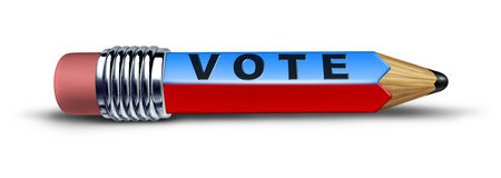 Vote symbol represented by a pencil Royalty Free Stock Photo