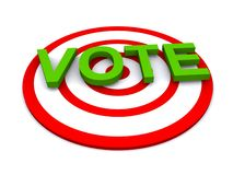 Vote in a target Royalty Free Stock Photo