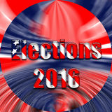 Vote text on USA flag. A USA flag illustration with text Elections 2016 Royalty Free Illustration