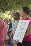 Vote Them Out Sign at Moral Monday Rally Stock Photo