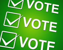 Vote Ticks Indicates Choosing Voting And Choose Stock Photo