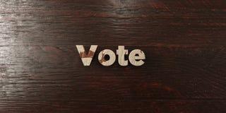 Vote - titre en bois sale sur l'érable - image courante gratuite de redevance rendue par 3D Photos libres de droits
