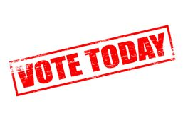 Vote today. Rubber stamps with text vote today inside,  illustration Royalty Free Stock Image