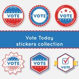 Vote Today stickers collection. Royalty Free Stock Photography