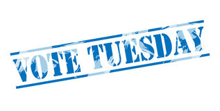 Vote tuesday blue stamp Stock Photography