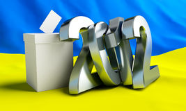 Vote Ukraine 2012. On the background of the flag Stock Photography