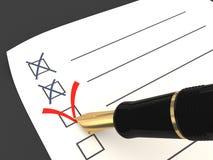 Vote. Un choix correct Image stock