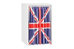 Vote in United Kingdom concept, voting booth with British flag, Stock Images